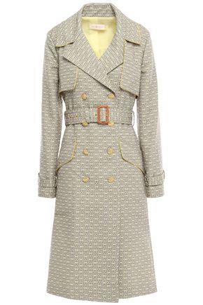 TORY BURCH Cotton-blend jacquard trench coat