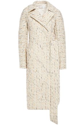 VICTORIA BECKHAM Knotted wool and cotton-blend jacquard coat