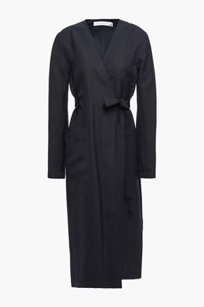 VICTORIA BECKHAM Belted woven coat