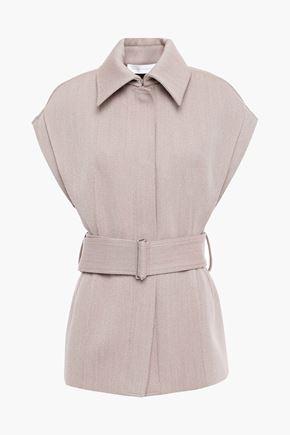 VICTORIA BECKHAM Belted wool-blend twill vest