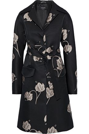 ROCHAS Belted jacquard coat