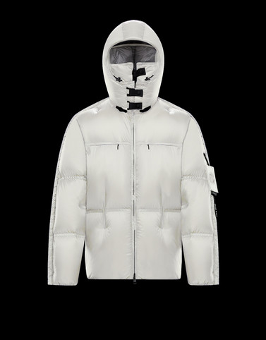MAHER White Down Jackets Man