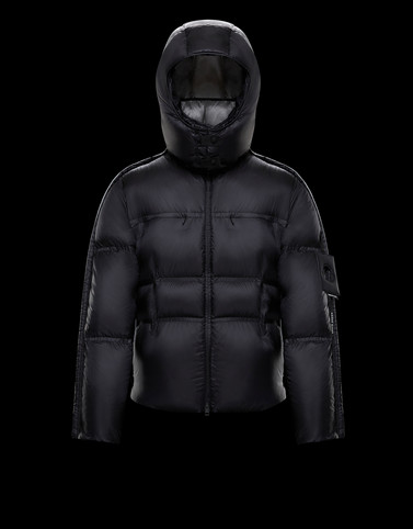 DIXMUDE Black Down Jackets Man