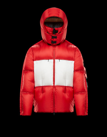 COOLIDGE Red Down Jackets Man