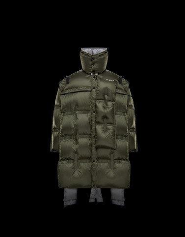NEVILLE Military green Down Jackets Man