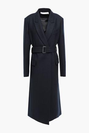 VICTORIA BECKHAM معطف من الجوخ المصنوع من مزيج الصوف مزوّد بحزام