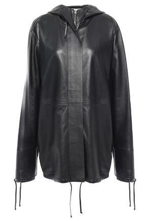 VICTORIA BECKHAM ファスナー付き レザー フード付きジャケット