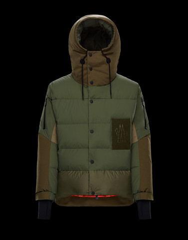 WIESE Military green Down Jackets Man