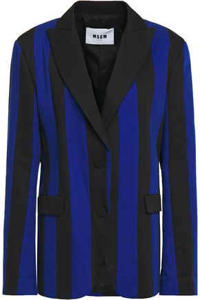 MSGM Striped twill blazer