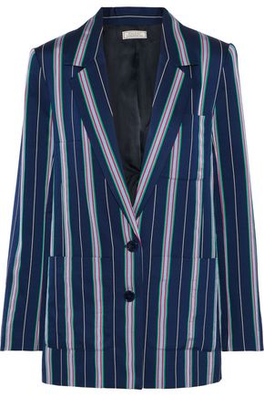 NINA RICCI Striped satin-twill blazer