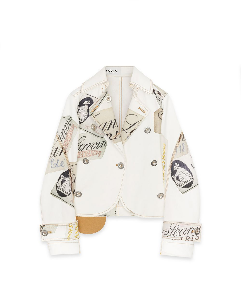 130 YEARS LANVIN LABEL PRINT DENIM JACKET - Lanvin
