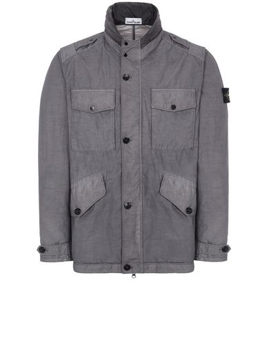 STONE ISLAND 43532 NASLAN LIGHT WATRO Jacket Man Blue Grey EUR 433