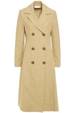 MANSUR GAVRIEL Double-breasted linen and cotton-blend canvas coat