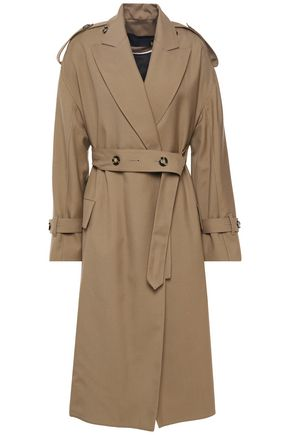 PROENZA SCHOULER Button-detailed wool-blend twill trench coat