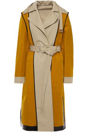 PROENZA SCHOULER Reversible two-tone cotton-canvas trench coat