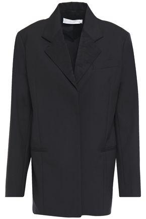 VICTORIA BECKHAM Satin jacquard-trimmed wool and mohair-blend blazer