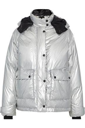 RAG & BONE Aiden metallic shell hooded down jacket