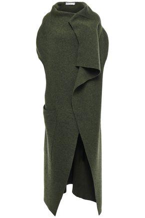 VICTORIA BECKHAM Draped mélange wool-blend vest