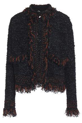 M MISSONI Frayed metallic bouclé-knit jacket