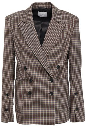 HOUSE OF DAGMAR Double-breasted checked woven blazer