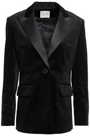 HOUSE OF DAGMAR Ingrid satin-trimmed cotton-blend corduroy blazer