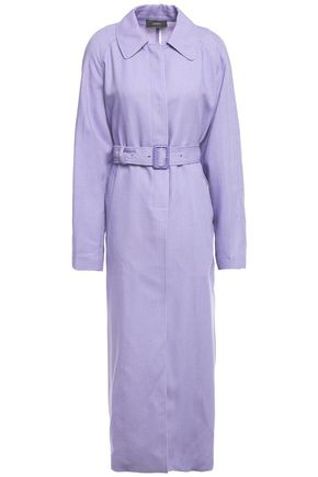 JOSEPH Harris belted woven trench coat
