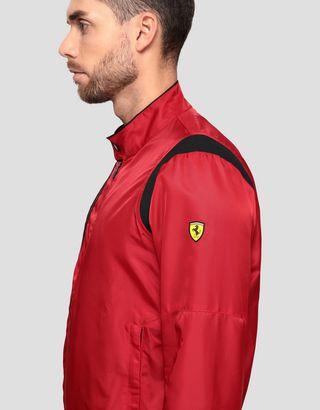 Scuderia Ferrari Online Store - 男士 Racing Shoulder Fit 系统飞行夹克 - 飞行夹克与运动夹克