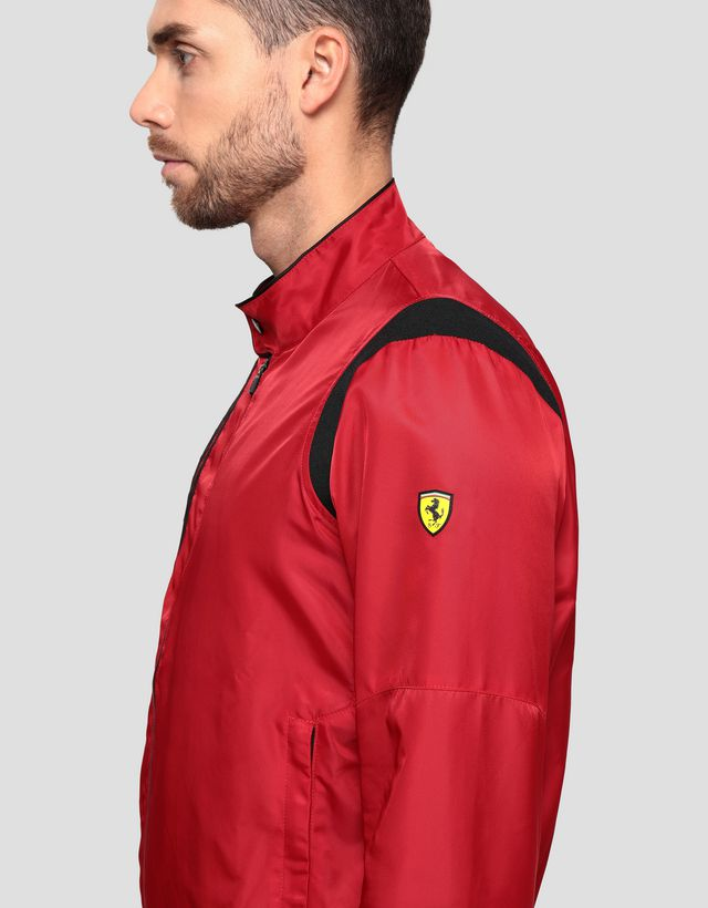 Scuderia Ferrari Online Store - Men's Racing Bomber Jacket with Shoulder Fit system - Bombers & Track Jackets