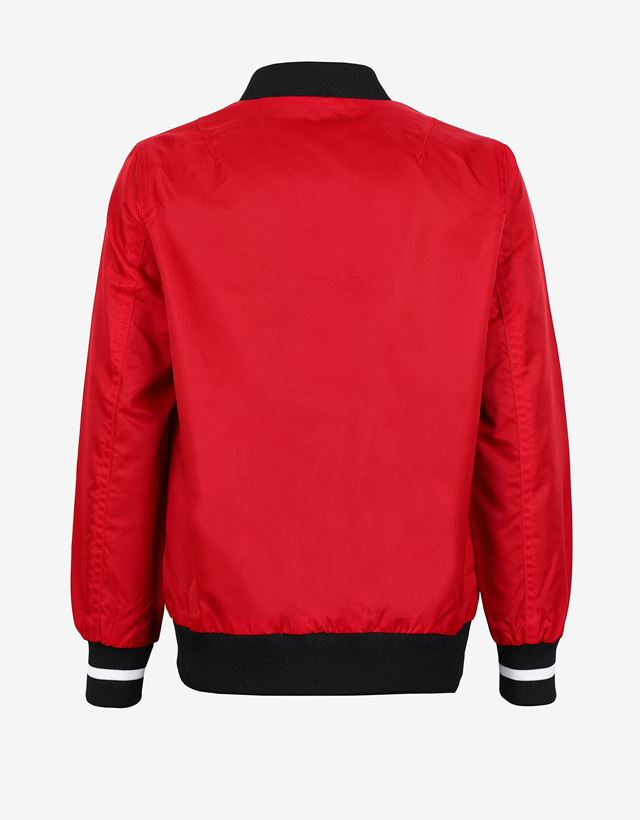 Scuderia Ferrari Online Store - 儿童中性色丁飞行夹克 - 飞行夹克与运动夹克