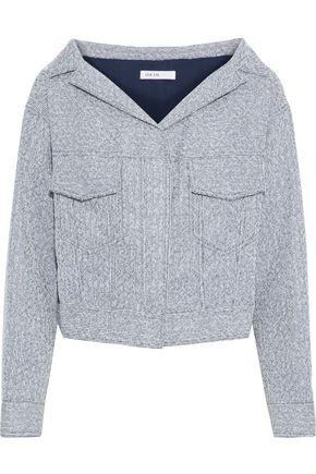 ADEAM Cropped metallic bouclé-tweed jacket