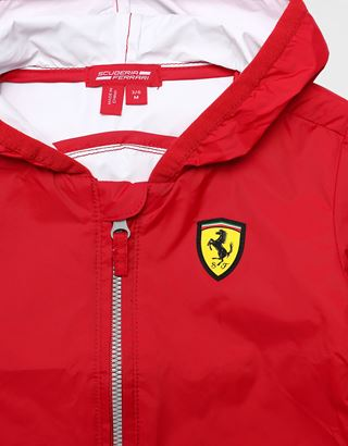 Scuderia Ferrari Online Store - Infant water resistant jacket with Ferrari Shield - Raincoats