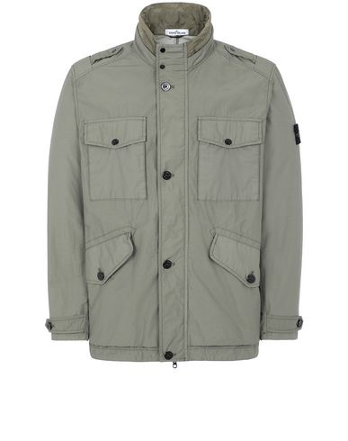 STONE ISLAND 43532 NASLAN LIGHT WATRO Jacket Man Olive Green EUR 357