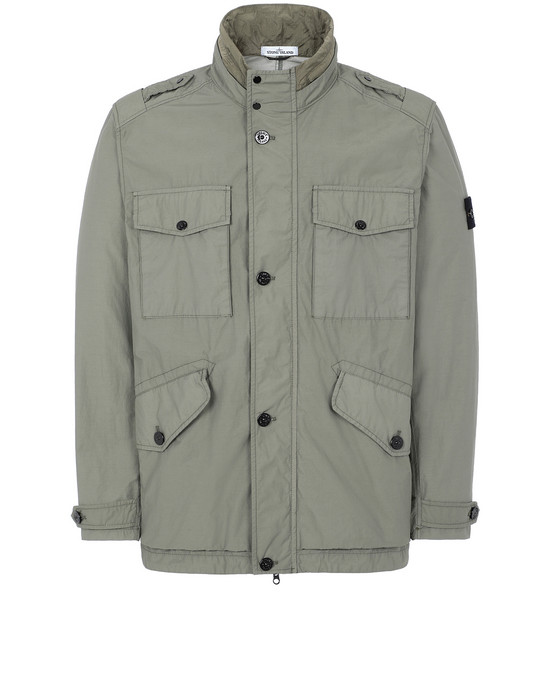 STONE ISLAND 43532 NASLAN LIGHT WATRO Jacket Man Olive Green