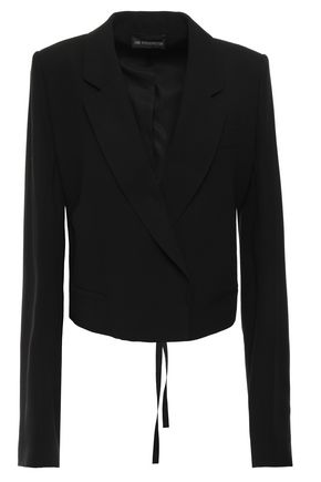 ANN DEMEULEMEESTER Cropped crepe jacket