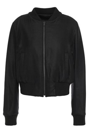 ANN DEMEULEMEESTER Reversible brushed wool-blend twill bomber jacket