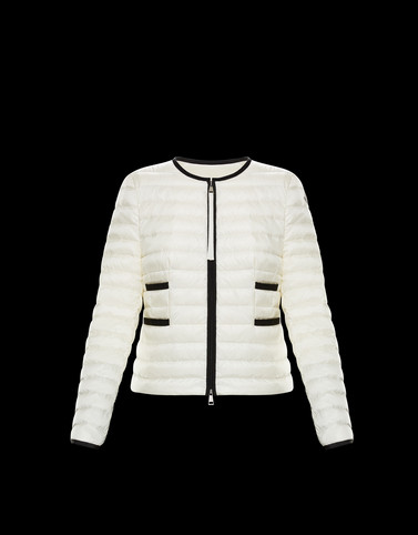 BAILLET Ivory Short Down Jackets Woman