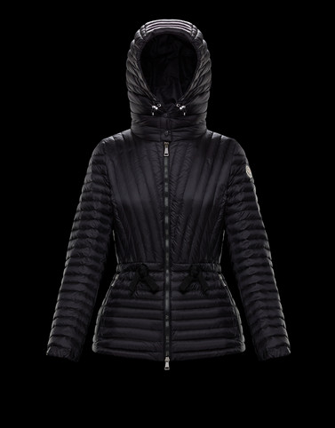 ORCHIDEE Black Short Down Jackets Woman
