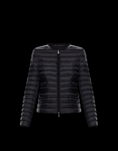 BAILLET Black Short Down Jackets Woman