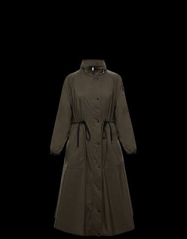 LIN Military green Category Coats Woman
