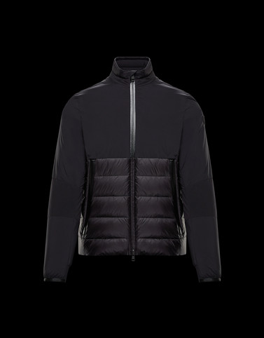 DURIER Black Down Jackets Man