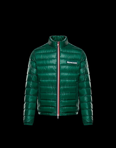 PETICHET Green Down Jackets Man
