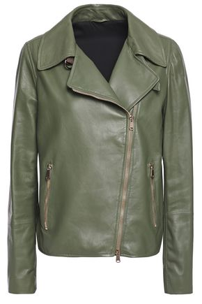BRUNELLO CUCINELLI Leather biker jacket