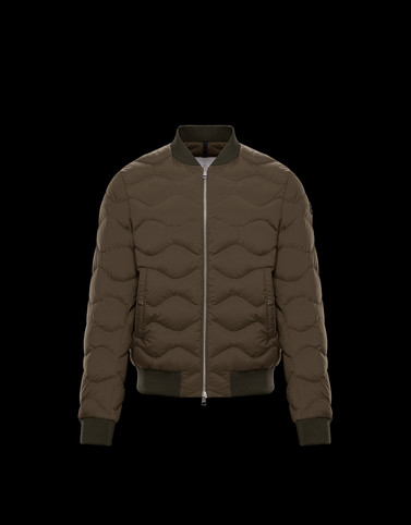 BORELY Military green Down Jackets Man