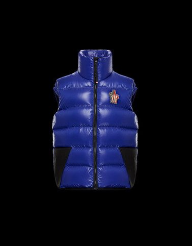 EGGINER Blue Grenoble Jackets and Down Jackets Man