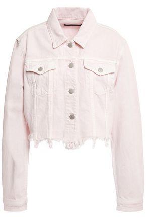J BRAND Cropped distressed denim jacket