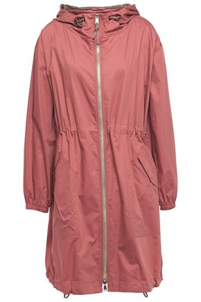 BRUNELLO CUCINELLI Bead-embellished cotton and silk-blend hooded jacket