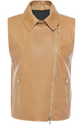 BRUNELLO CUCINELLI Bead-embellished leather vest
