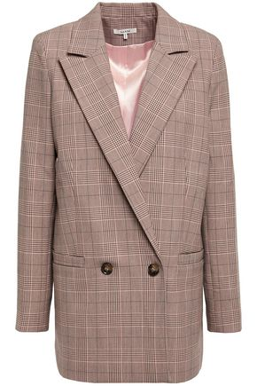 GANNI Hewitt double-breasted checked cady blazer