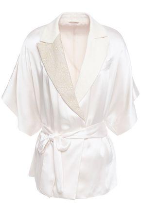 BRUNELLO CUCINELLI Belted embellished satin jacket