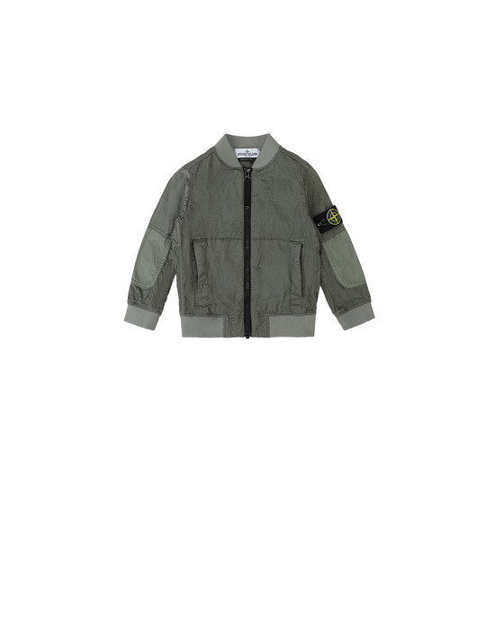 STONE ISLAND JUNIOR 40335 NYLON METAL WATRO RIPSTOP Jacket Man Sage Green